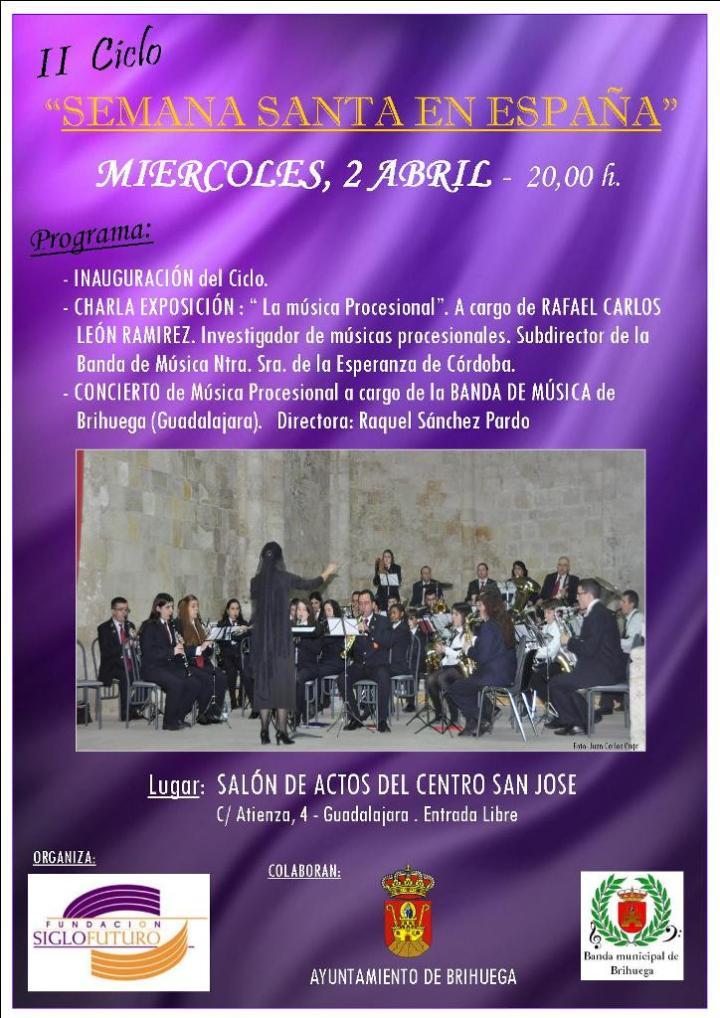 Concierto Semana Santa 02 04 14 Guadalajara MUSICA PROCESIONAL por BANDA BRIHUEGA