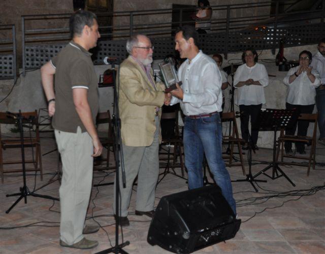 Entrega Placa Socio de Honor a Jesús Villa Rojo el 5 Agosto 2016